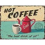 Martin Wiscombe - Grösse 20x15 cm - Hot Coffee Blechschildim Vintage Look