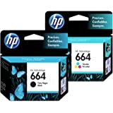 HP 664 Ink Cartridges Combo ( Black + TRI-COLOR ) Original Ink Cartridge Deskjet - 2 Pack