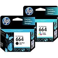 Cartucho de tinta HP 664 combinado (negro TRI-COLOR) Cartucho de tinta original Deskjet - Paquete de 2