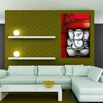 Multiple Frames Printed Ganesha Like Modern Wall Art Painting