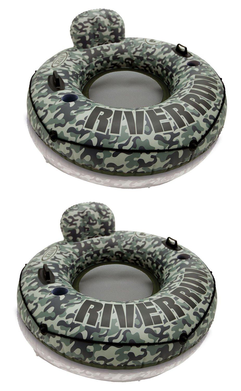 Intex Camo River Run I Inflatable Floating Tube Raft (2 Pack) | 58835EP by Intex (Image #1)
