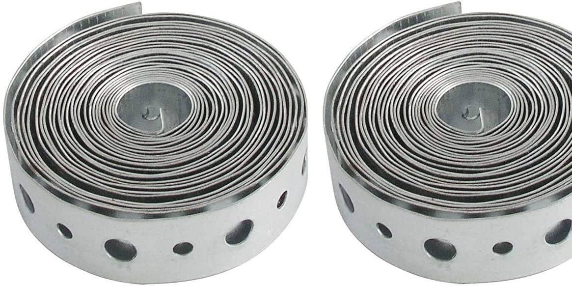 3//4 x 10 Silver LDR Industries 510 3300 Pipe Strapping pack of 2