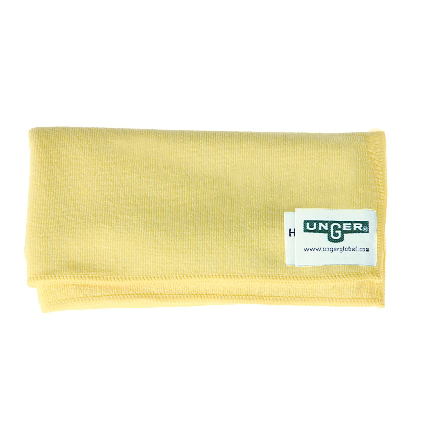 Unger MF40J SmartColor MicroWipe Heavy Duty Microfiber Cloth, 16'' Length x 15'' Width, Yellow (Case of 10)