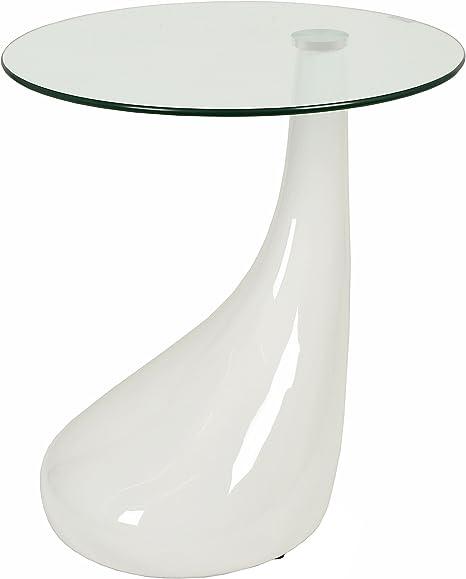 Table En Verre Design Table D Appoint Table Basse En Blanc Avec