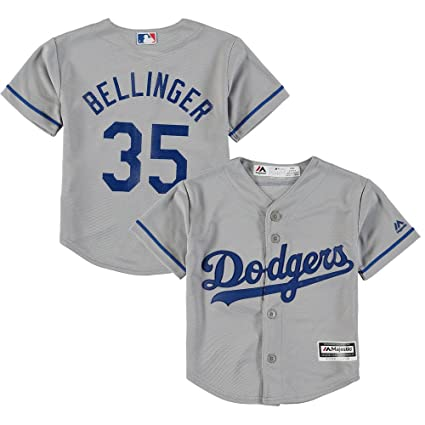 680a4eb3c Majestic Los Angeles Dodgers Cody Bellinger Kids Cool Base Alt. Replica  Jersey Small 4