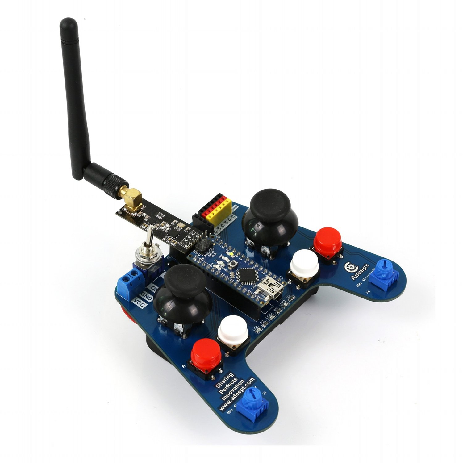 Buy Adeept Arduino Remote Control Smart Car Kit With 24g Wireless Ir Additionally Rf Circuit Pdf Guidebook Multicolour Online At Low Prices In India