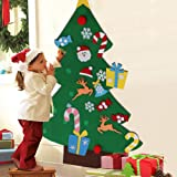 Aytai DIY árbol de Navidad de fieltro con adornos para los niños Regalos de Navidad de