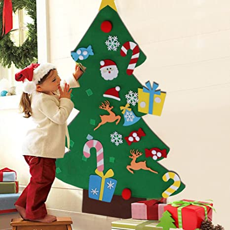 Aytai 3ft Fai da Te Albero di Natale Feltro con Ornamenti per i ...