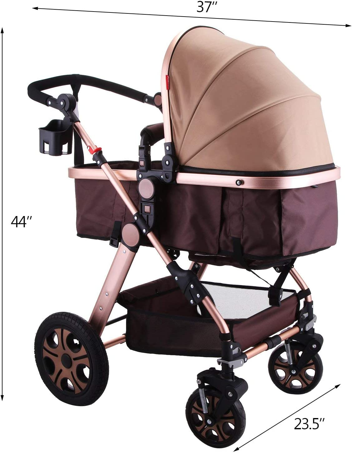 JACKWS Cochecito de bebé, Carrito silleta Carro de bebé
