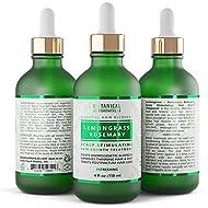 Hair Growth Treatment Step 1: Lemongrass-Rosemary Lab Formulated Anti-Hair Loss Botanical DHT Blocker and Alopecia Prevention 4 Oz.