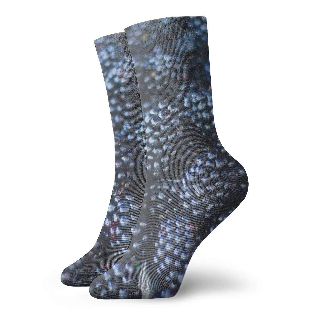 WEEDKEYCAT Black Raspberry Ripe Adult Short Socks Cotton Funny Socks for Mens Womens Yoga Hiking Cycling Running Soccer Sports