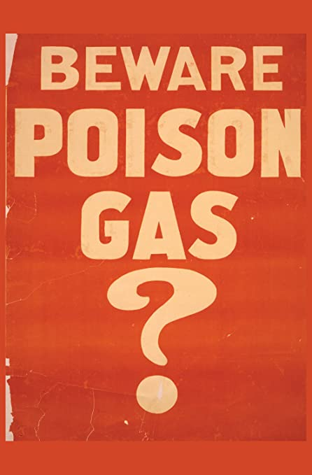 JP London Heavyweight Non Woven Art Prepasted Removable Wall Mural Vintage World War 1 Poison Gas Detect at 2 Wide by 3 feet high SPMURLT2477