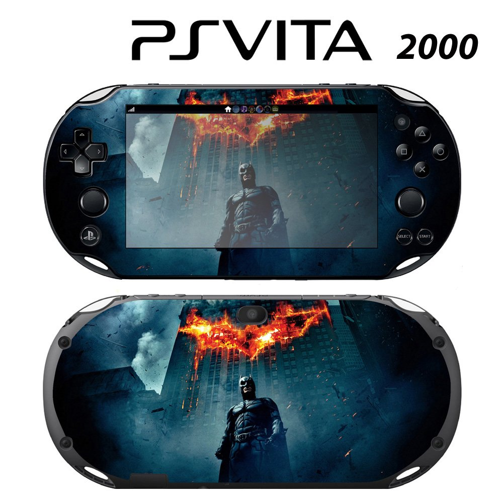 Decorative Video Game Skin Decal Cover Sticker for Sony PlayStation PS Vita Slim (PCH-2000) - Batman The Dark Knight Rises