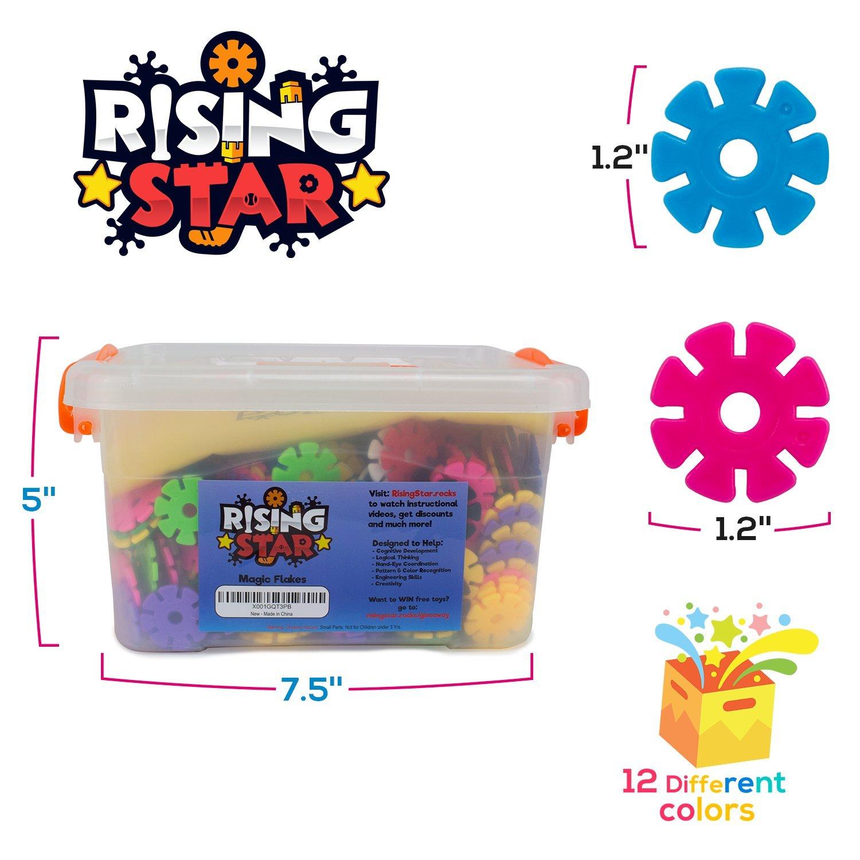 Risingstar Interlocking Brain Flakes Plastic Disc Set For