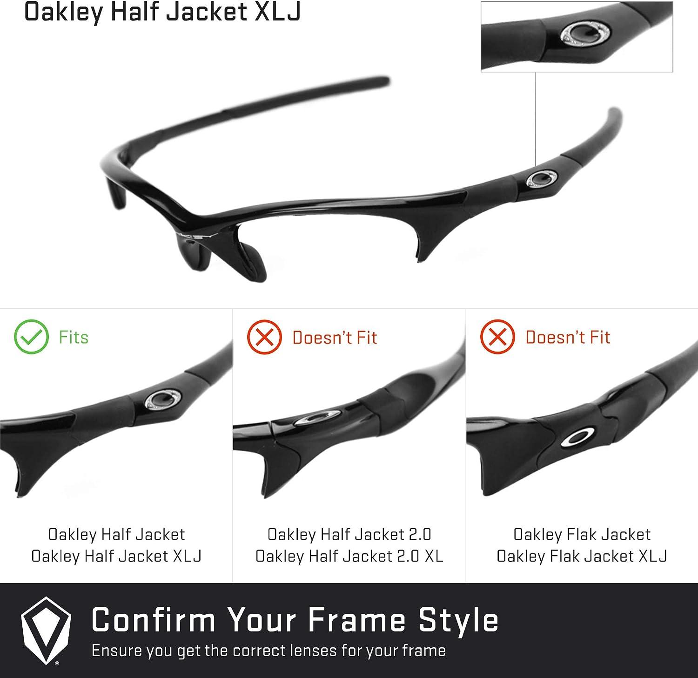 Revant Verres de Rechange pour Oakley Half Jacket XLJ - Compatibles avec les Lunettes de Soleil Oakley Half Jacket XLJ Violet Plasma Mirrorshield - Non Polarisés