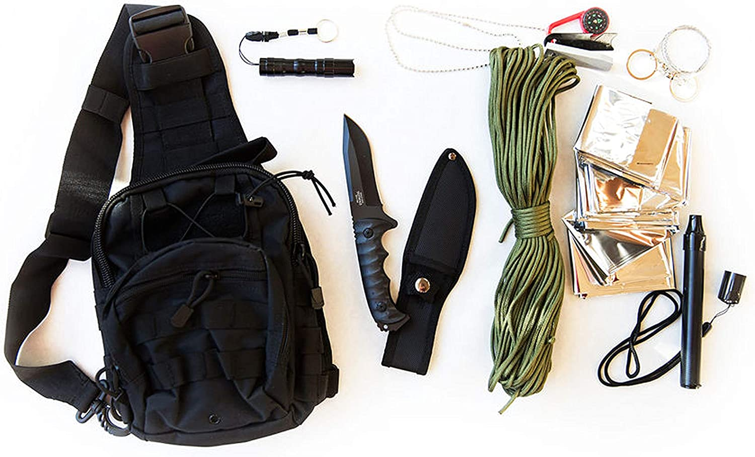 Amazon.com: Coobera Emergency Survival Backpack Kit with Bug-Out Tactical  Gear (Black): Sports & Outdoors