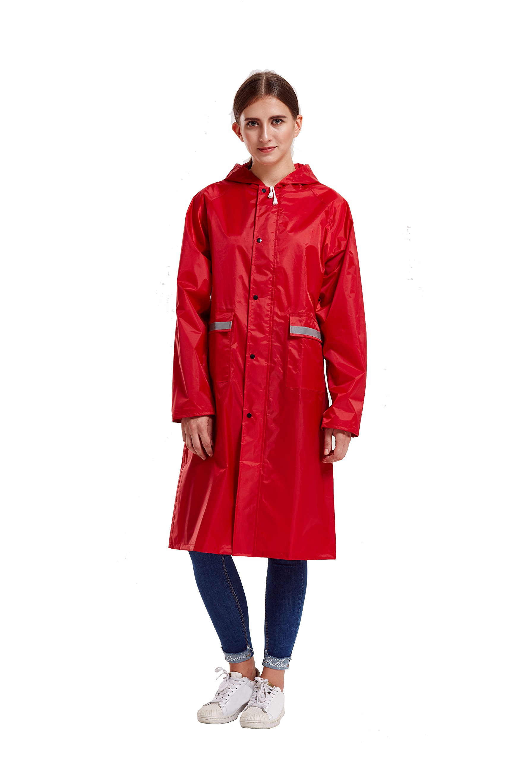 Peacoco Raincoat,Rain Ponchos for Adult Men Women,Emergency Rain Coat with Hood for Outdoor Traveling,Camping Hiking,Fishing
