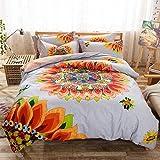 Kids Bedding Girls, Children's Cotton Duvet Cover Set, Bedding for Girls Boys, Full Size 4pcs (001)