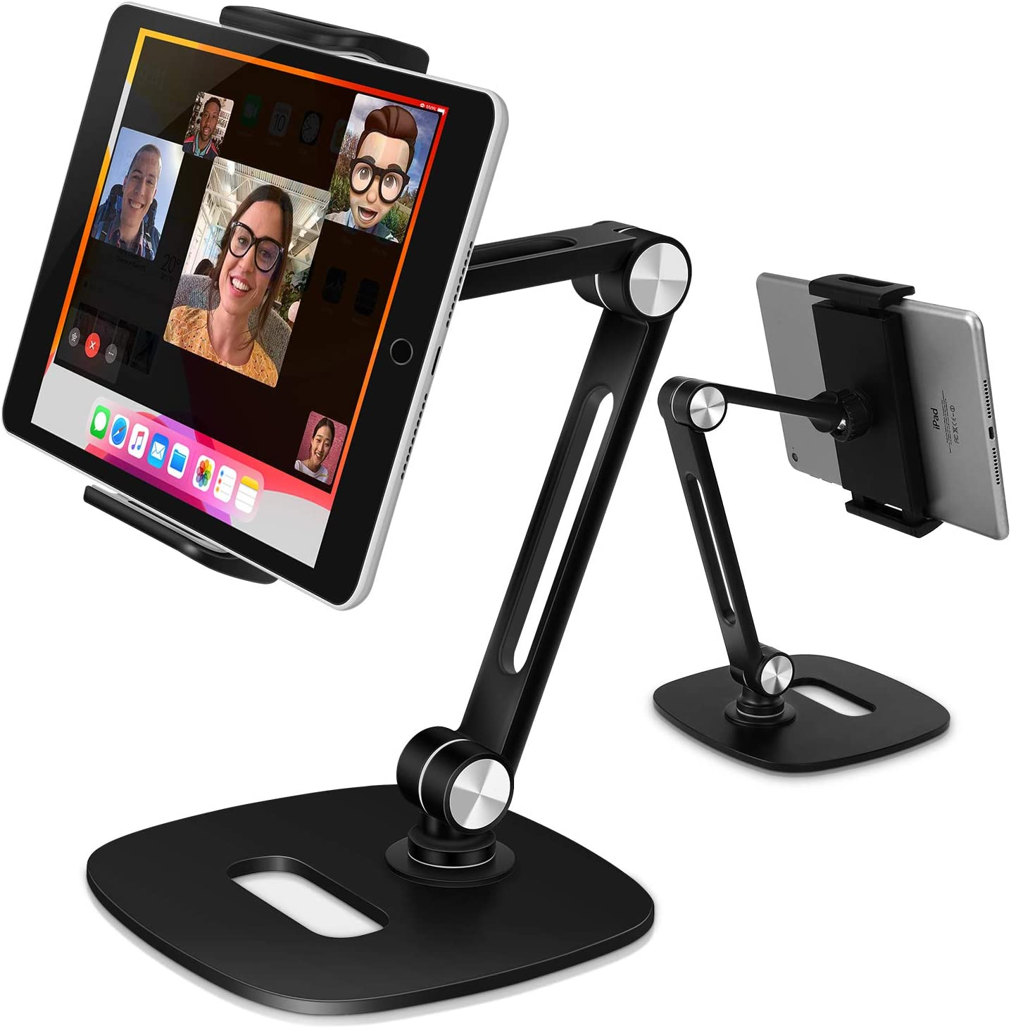 "B-Land Adjustable Tablet Stand, Desktop Tablet Holder Mount Foldable Phone Stand with 360° Swivel Phone Clamp Mount Holder, Compatible with 4-13"" Tablets/Phones,Nintendo Switch, Kindle"