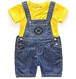 (ガガリア)GagaRia ミニオンズ 上下 セットアップ オーバーオール Tシャツ セット 男の子 女の子 コスプレ 仮装 衣装