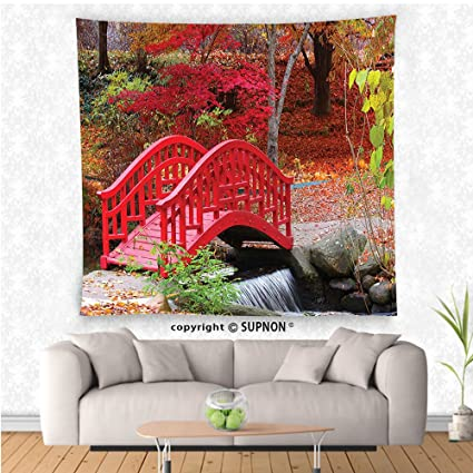 Incroyable VROSELV Custom Tapestry Japanese Decor Collection Asian Garden With Oak  Colored Cute Little Bridge Nature In