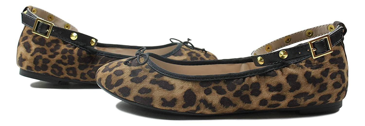 Libby Edelman Womens Clarissa Ankle Flat Slip Ons Leopard Womens 8