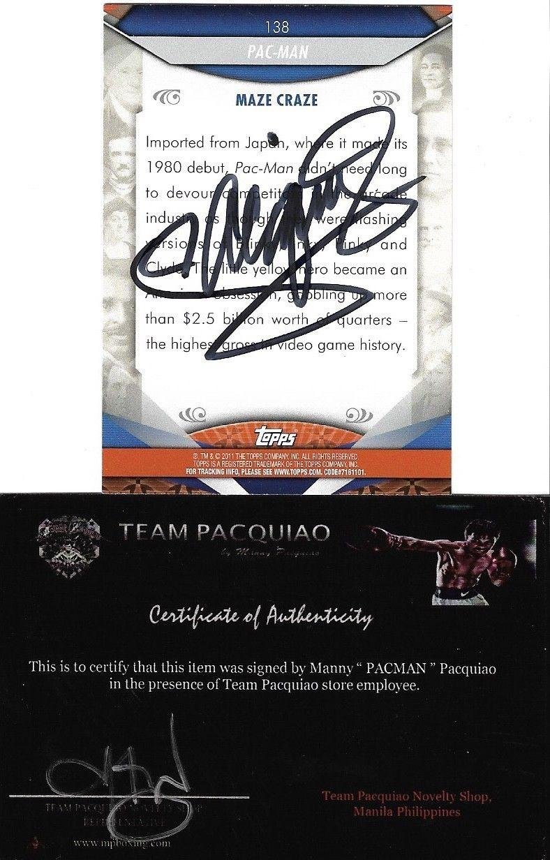Manny Pacquiao Topps American Pie Pacman Signed Auto Card Team
