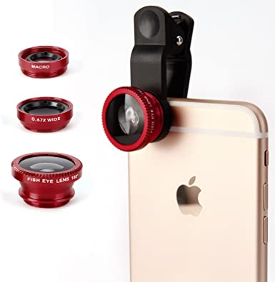 Lentes Smartphone 3 in 1 Lentes móviles Kit Lente Ojo de Pez ...