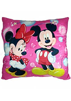 Soniya Enterprises Mickey And Minnie Mouse Pillow (40Cm_Multicolor)