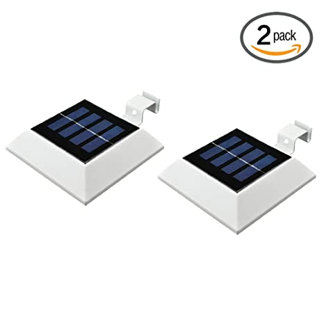 2 Packhkyh Solar Powered Waterproof Security Lamp 4 Led Solar
