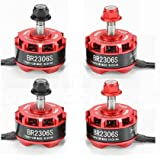 4pcs RacerStar BR2306S 2306-2305 2700kV 2-4S Brushless Motor Set (2)CW (2)CCW for FPV Racing Drones