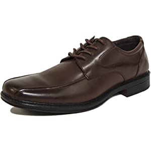 Alpine Swiss Mens Dress Shoes Brown Leather Lined Lace up Oxfords Baseball Stitched 12 M US