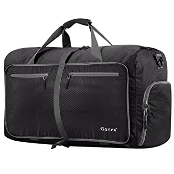 Amazon.com: Gonex 80L Foldable Travel Duffel Bag for Luggage Gym ...