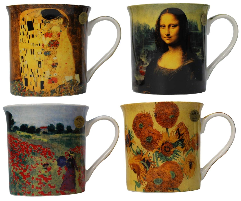 Set of 2 Van Gogh Fine Bone China Mug Set in a Gift Box by The Leonardo Collection