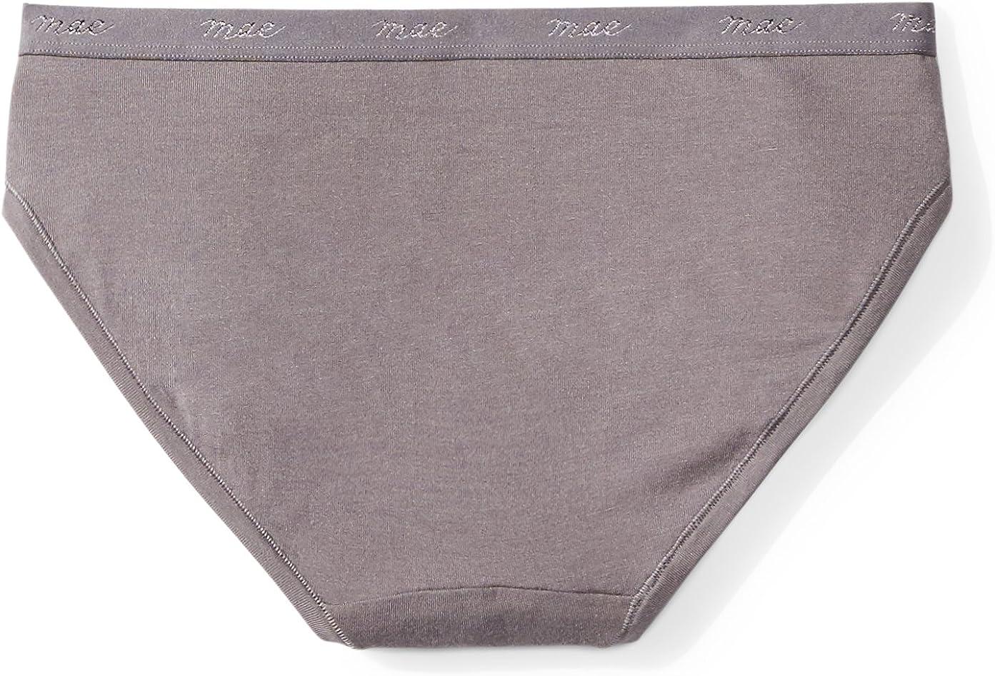 3 Pack Brand Mae Womens Subtle Logo Elastic Modal Bikini
