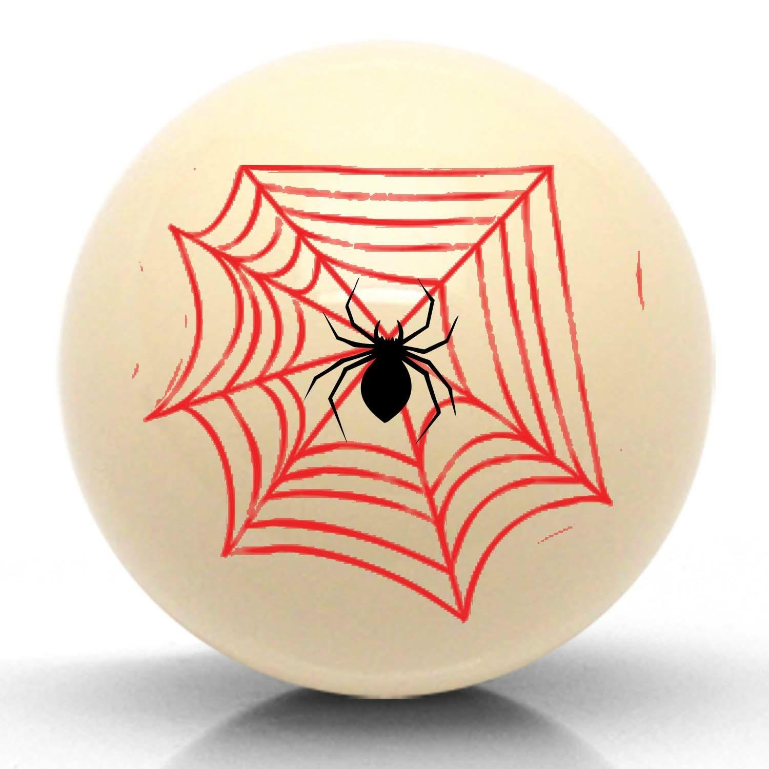 American Shifter 15656 Ivory Spider Suicide Brody Knob Opaque
