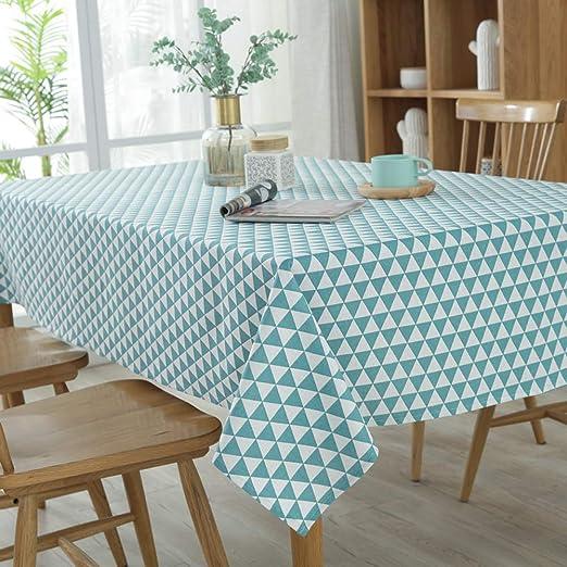 Morbuy Rectangle Mantel de Lino algodón Antimanchas, Triángulo Mantel Rectangular de para el Restaurante del Hotel de casa Restaurante Multicolor Decoración: Amazon.es: Jardín