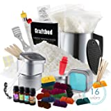 CraftBud Candle Making Kit - 58 Pieces Soy Candle Making Kit - Complete Candle Maker Kit - Best Candle Maker Kit for Adults a