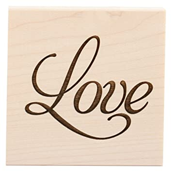 Clearsnap Wood Mount Stamps, Love by Clearsnap
