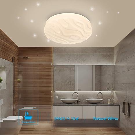 Luz de techo LED Baño Cocina Dormitorio Lámpara Techo LED Sala de estar Comedor Estudio Balcón Pasillo Habitación Redondo Impermeable Moderno Plafón ...