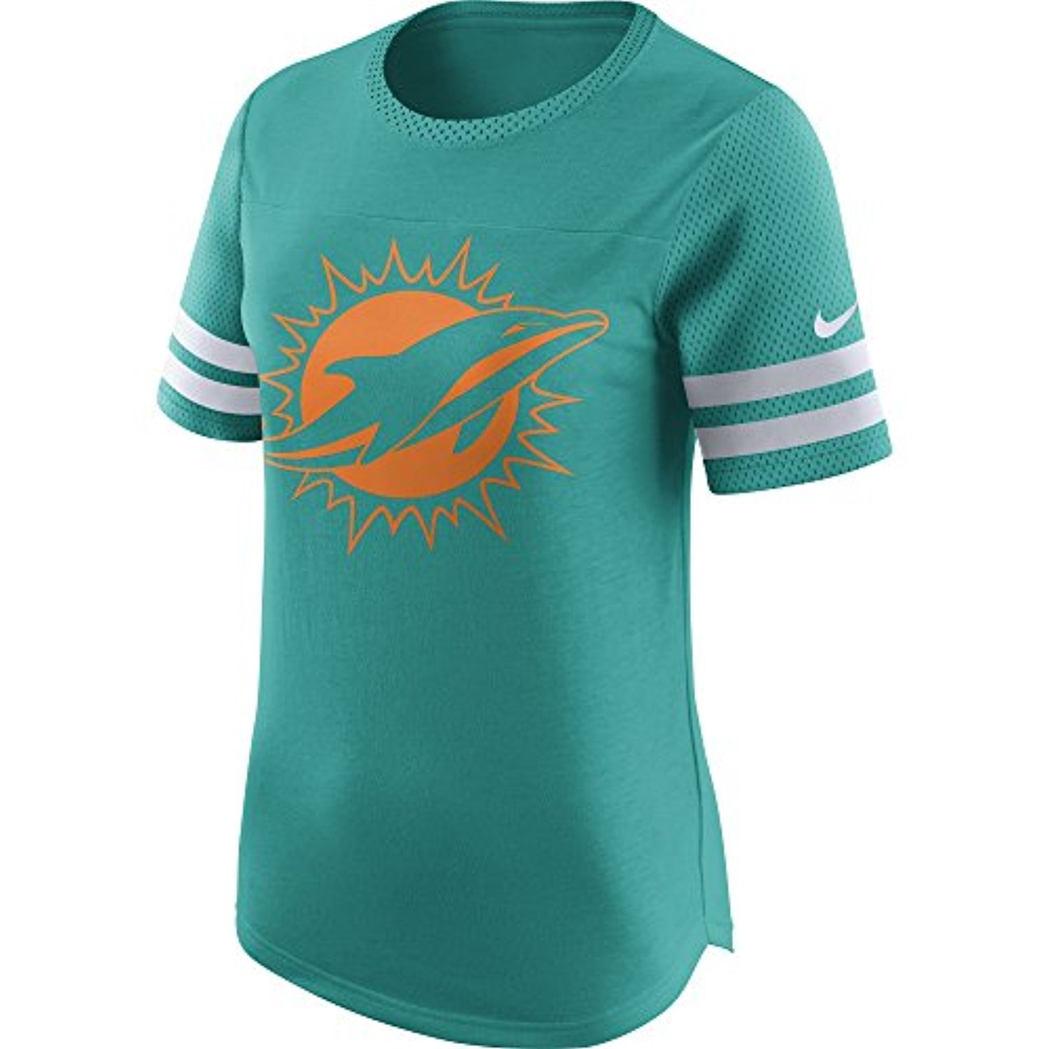 Nike Women s Miami Dolphins Gear Up Modern Fan Top Turbo Green White Size  X-Large at Amazon Women s Clothing store  50feec6c9