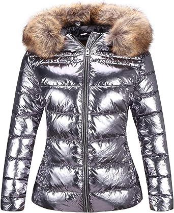 Winter Womens Down Cotton Coat Shiny Thicken Warm Oversized Puffer Parka Jackets