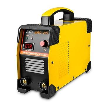 Mini 220V soldador inverter 160A profesional, GOGOLO IGBT Mini máquina de soldadura por arco con cable de cobre del sostenedor de cobre Enchufe de la EU: ...