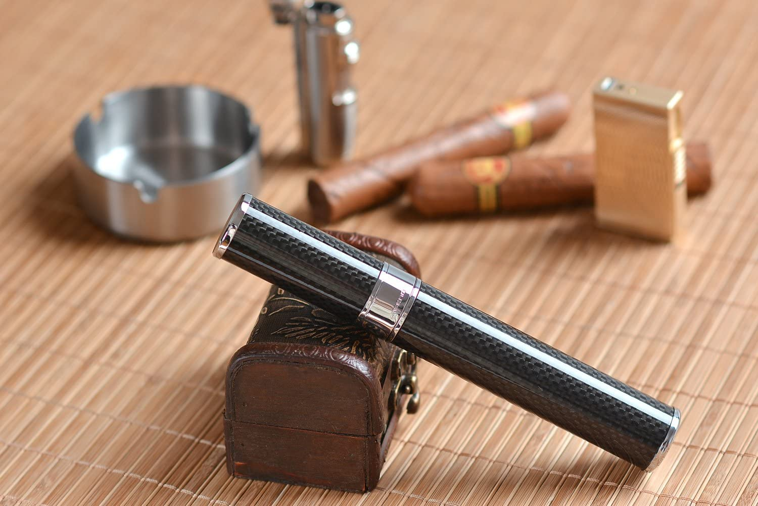 UK 5315-01 18cm x 2,5cm Mod The Khan Outdoor /& Lifestyle Company Cigar Travel Tube made of stainless steel black 7.09 x 0.98