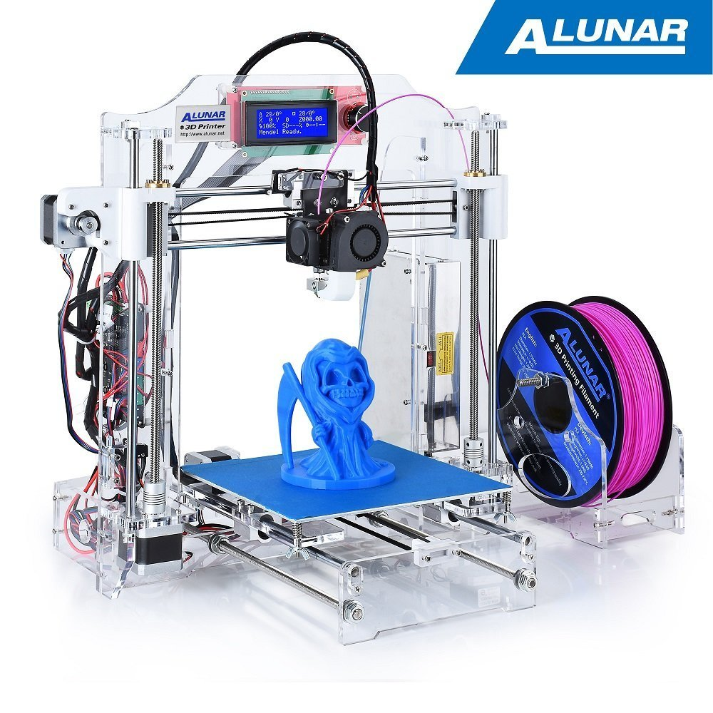 Alunar 3d Printer Diy Prusa I3 Kit Self Assembly Desktop Fdm 175mm Mendel Circuit Board Spacer Print Models Pla Pen Filament Heated Bed Industrial Scientific