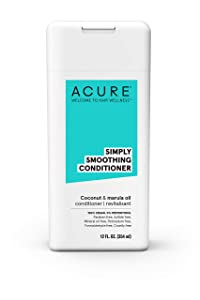 Acure Simply Smoothing Coconut & Marula Conditioner, 12 Oz