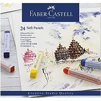 Giz Pastel Seco Macio Longo Goldfaber 24 Cores, Faber-Castell