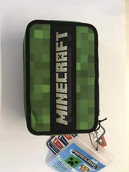 Estuche con 3 cremalleras Minecraft con Pixel: Amazon.es: Oficina y papelería