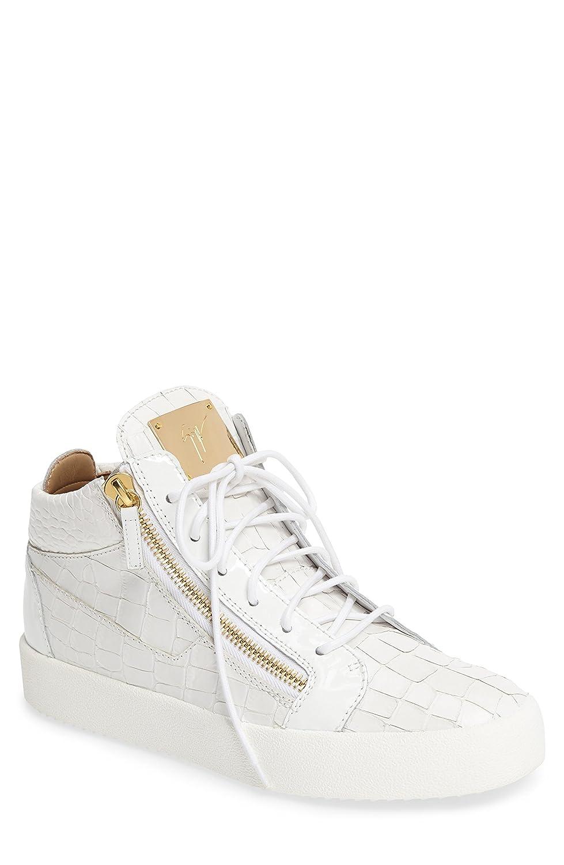 ジュゼッペザノッティ シューズ スニーカー Giuseppe Zanotti Mid Top Sneaker (Men) White [並行輸入品] B072HSNVGS