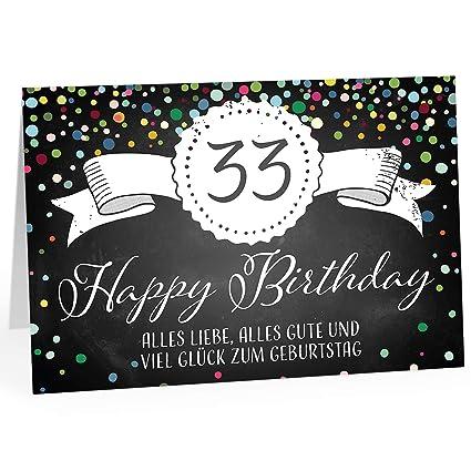 Große Glückwunschkarte Xxl A4 Zum 33 Geburtstag Tafel